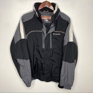 Columbia Windbreaker Jacket Retractable Hood Large